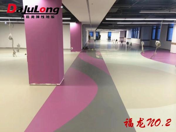 大巨龙福龙NO.2纯色密实低pvc卷材地板