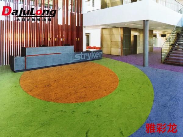 大巨龙雅彩龙-密实低商用pvc卷材地板