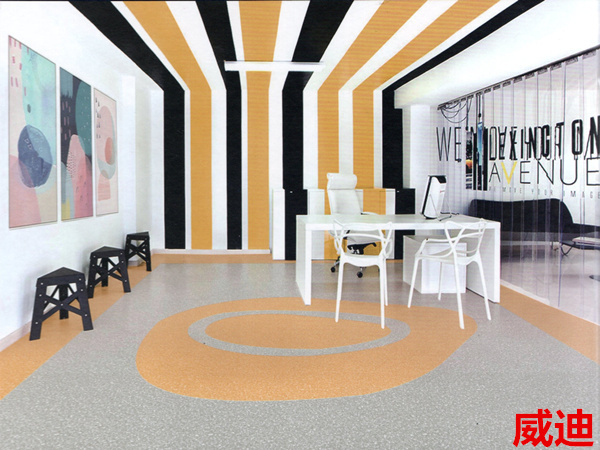 Kaman floor-Weidi dense bottom commercial pvc plastic floor